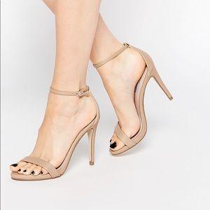 Steve Madden STECY Nude Open Toe Heels Size 8